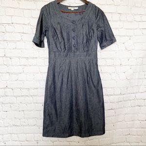 Boden denim dress shortsleeved indigo westbourne